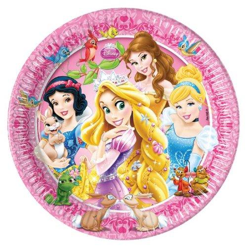 Preisvergleich Produktbild Disney Prinzessinnen Rapunzel, Schneewittchen und Co. 8 Teller 20cm für Kindergeburtstag