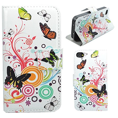 HUANGTAOLI Protettiva Flip Case Cover per Apple iPhone 4 4S 4G C28