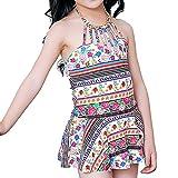 Les Enfants Les Filles Style Chinois Siamois Jupe Maillots De Bain