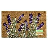 JVL–diseño de jardín con diseño de Puerta de Entrada Mat-Lavender Beige, 45x 75cm, Fibra de Coco y látex, marrón, 45x 75x 1,5cm