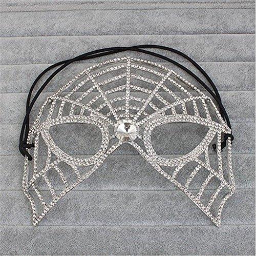 (Masken Gesichtsmaske Gesichtsschutz Domino falsche Front High-End Luxus Zarten Make-up Tanz Maske Halb Gesicht Halloween Party Maske Foto Fotografie Requisiten)