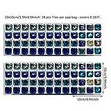decalmile Tuile Autocollant Auto-Adhésif Carrelage Stickers Muraux pour Salle de Bain Cuisine Bureau (1set=10x10cmx18pcs)