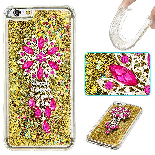 Strass Coque iPhone 6 Plus / 6S Plus Case 3D Liquide Sables Mouvants Design, Sunroyal Bling Glitter Paillettes en Soft TPU Coque pour iPhone 6 Plus / 6S Plus (5,5 pouces) Etui Bumper Dual Layer Plasti A-10