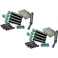 10 x PET Log Book Pen Complete Set Package Geocaching CACHE Hide Green 13 cm