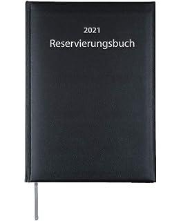 Schwarz-Balacro 2021 ADINA Dickes Reservierungsbuch 67003 A4 2 Seiten pro 1 Tag