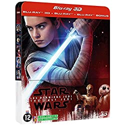 Star Wars : Les Derniers Jedi - Steelbook Blu-ray 3D + Blu-ray 2D + Blu-ray Bonus [Combo Blu-ray 3D + Blu-ray + Blu-ray Bonus - Édition limitée boîtier SteelBook]