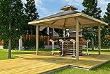 weka Holzbau GmbH Weka 651.3838.11.00 Gartenoase Gr.2, Naturbelassen, 380 x 380 x 335 cm