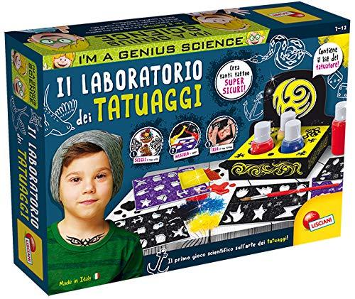 Liscianigiochi- i'm a genius science gioco per bambini laboratorio dei tatuaggi, 72965
