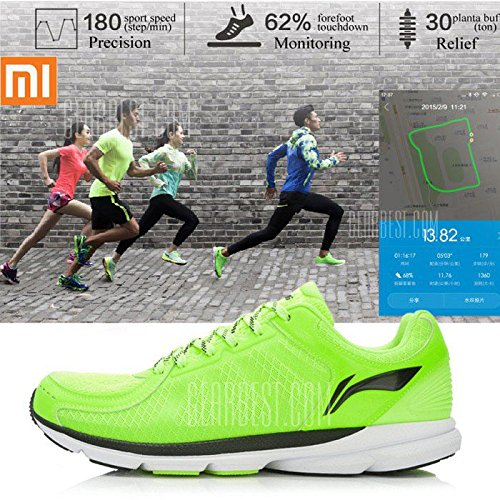 chaussures-de-sport-connectees-li-ning-vert-clair-taille-43