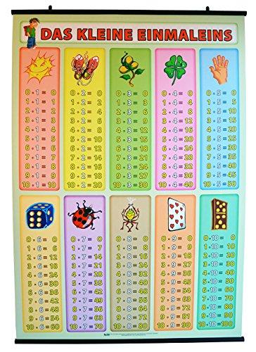 s XL - Lernposter - die Zahlen von 1 bis 10 - 100 x 70 cm, Poster ist laminiert mit weißen Posterleisten für hängen ()