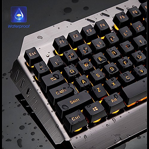 Normia Rita Mamba Mechanical Touch Keyboard and Mouse Combo Rainbow Backlight Wired Keyboard Gaming Internet Cafes LOL – Silver Black - 2