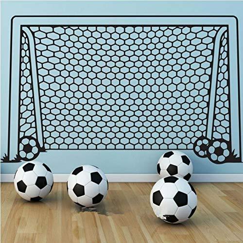 Autocollant mural de football pour enfants décoration de la maison de football applique murale artiste de vinyle décoration de la maison 56 * 89cm
