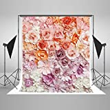 Kate 5x7ft Colorful Pink Paper Flower Children Bedroom Office Living Room Wedding Daughter Birthday Party Backdrop Beauty Photography Studio Background YY00596