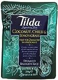 TILDA Basmatireis gedämpft mit Kokosnuss, Chili, Zitronengras für die Mikrowelle, 6er Pack (6 x 250 g)