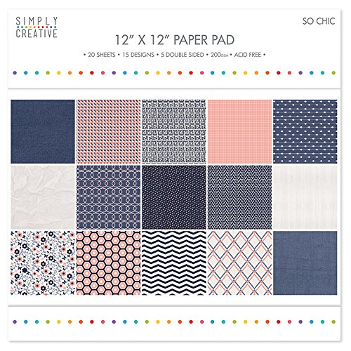"Simply Creative So Chic Paper Pad 12""x12"" (15 Designs, FSC)"