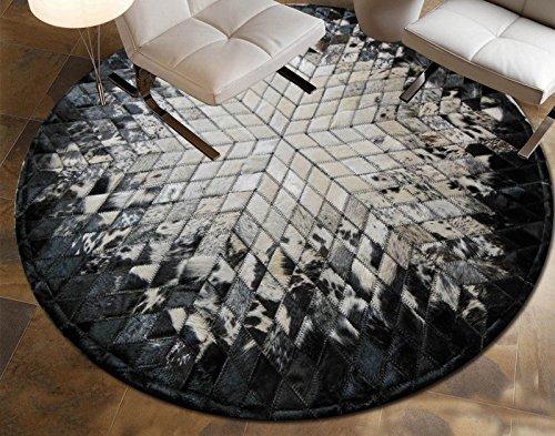 HCJDT JCRNJSB® Handgenähte Teppiche Kreis-Wohnzimmer Hall-Studie Der Teppich Rutschfest, Umweltschutz (Farbe : #2, größe : 1.0 * 1.0m) -