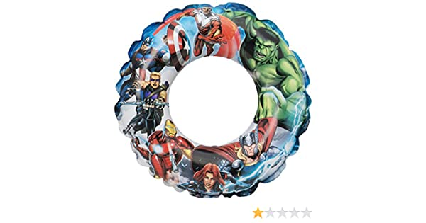 Badering Marvels The Avengers Aufblasbarer Schwimmring Aufblasring