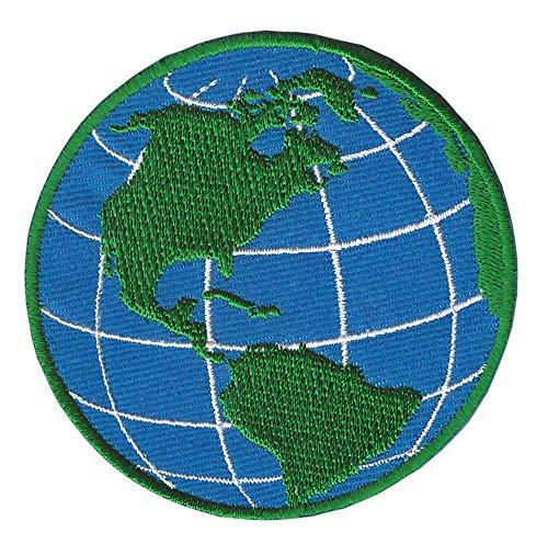 Patch Erdkugel Erde Welt Aufnäher Bügelbild Flicken Größe 7,0 x 6,9 cm