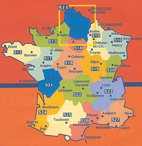 Pyrenees Michelin - Carte indéchirable Midi-Pyrénées 2014