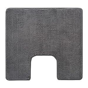 """IKEA Toilettenmatte """"TOFTBO"""" flauschiger WC-Vorleger - saugstarke Mikrofaser - 55x60 cm - maschinenwaschbar - div. Farben (grau)"""