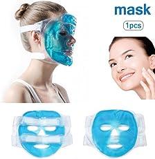 maschera per il viso, maschera per il ghiaccio freezable e riutilizzabile adatta per occhi gonfi e cerchi scuri e stress da sollievo