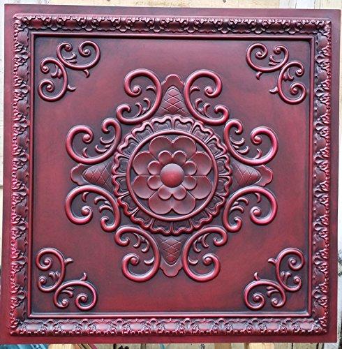 pl08-faux-paint-antik-rot-deckenleuchte-fliesen-3d-relief-cafe-pub-shop-art-dekoration-wand-paneele-