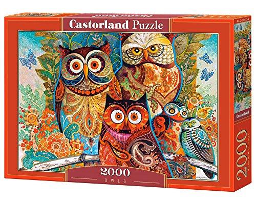 CASTORLAND Owls 2000 pcs Puzzle - Rompecabezas (Puzzle Rompecabezas, Arte, Niños y Adultos, Búho, Niño/niña, 9 año(s))