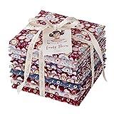 Tilda Candy Bloom Fat Quarter Stoff Bündel, 100% Baumwolle, Farbe, 50x 55cm, 9-tlg.