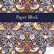 William Morris Paper / Message Block - Birds & Flowers