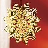 Tri Strohstern, braun, Weihnachtsdekoration Christbaumdeko Weihnachtsbaumschmuck Fensterdeko aus Stroh