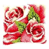 Vervaco Knüpfkissen Rosenblüte Knüpfpackung