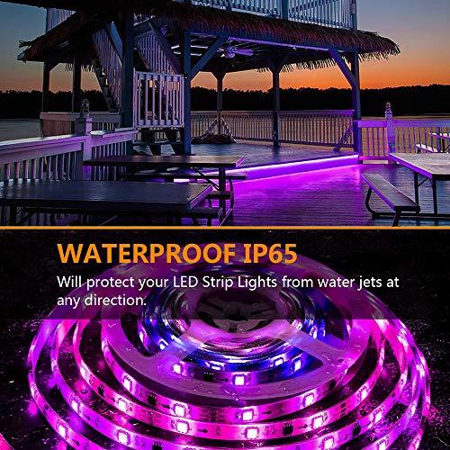 Striscia LED, REAFOO Striscia LED WiFi RGB Impermeabile 5m 5050 300LED Multicolore, APP Controlled Light Strip, Striscia LED TV intelligente i illuminazione con Alexa Echo, Google Home e IFTTT