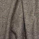 kawenSTOFFE Tweedstoff Wollstoff Braun Beige Blau meliert