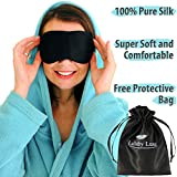 Lullaby Luxe - Luxuriously Soft, 100% Pure and Natural Silk Eye Mask. Our Best Sleep Mask is High Quality and Handmade. Sleep and Relax in Pure Luxury.