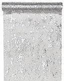 Santex 4721 Tischläufer, Polyester, Fantasie Silber glänzend