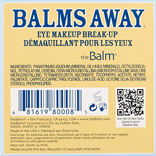 The Balm Balms Away Eye Makeup Breakup Remover 2.2 Ounce