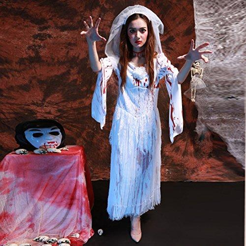 Halloween Kostüm blutigen Geist Braut Mädchen Vampir Kostüm Ghost Festival Karneval Partykleid Festival / Halloween / Weihnachten (Alien Kostüme Mädchen)