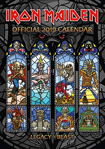 Iron Maiden Official 2019 Calendar - A3 Wall Calendar Format