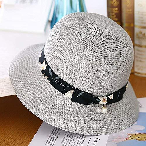 XHHWZB Womens Straw Crochet Hat Faltbarer Muschelhut/Bow Dekoration (Farbe : #3) (Crochet Womens Hats)