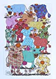 BLUMIGE KÜHE GESCHIRRHANDTUCH von MOLLYMAC - Hübsche Küche Wohnkultur, Bunte Kuh Abwaschtuch. Küchentuch. Preiswertes Danke Geschenk für Hochzeit, Geburtstag, Weihnachten - Hergestellt in England -100% Baumwolle - 71 x 46 cm - CowGirls Blooming Lovely