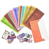 Lanthour Budget Umschlag, 12 Stück Budget umschläge mit 45 Retro Farbenaufkleber Budget Umschlag zum Bargeldablage zu…