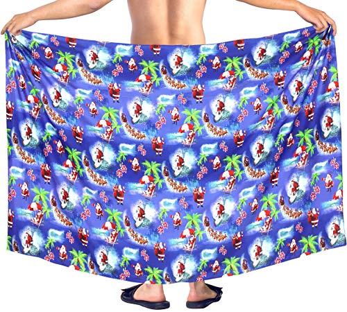 6c495f27 HAPPY BAY Aloha Hombres Beachwear Encubrir Pareo Pareo Navidad Santa Claus  Jingle Bells Árbol de Navidad