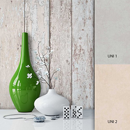 NEWROOM Holztapete Braun Papiertapete Holz Muster/Motiv schöne moderne und edle Design 3D Optik, inklusive Tapezier Ratgeber