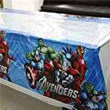 180x108cm Disposable PVC Table Cover Tablecloth Kids Party Avengers