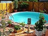 Bon piscina Piscine Rotonde 4m Ø 1,20m di profondità con scala in acciaio inox