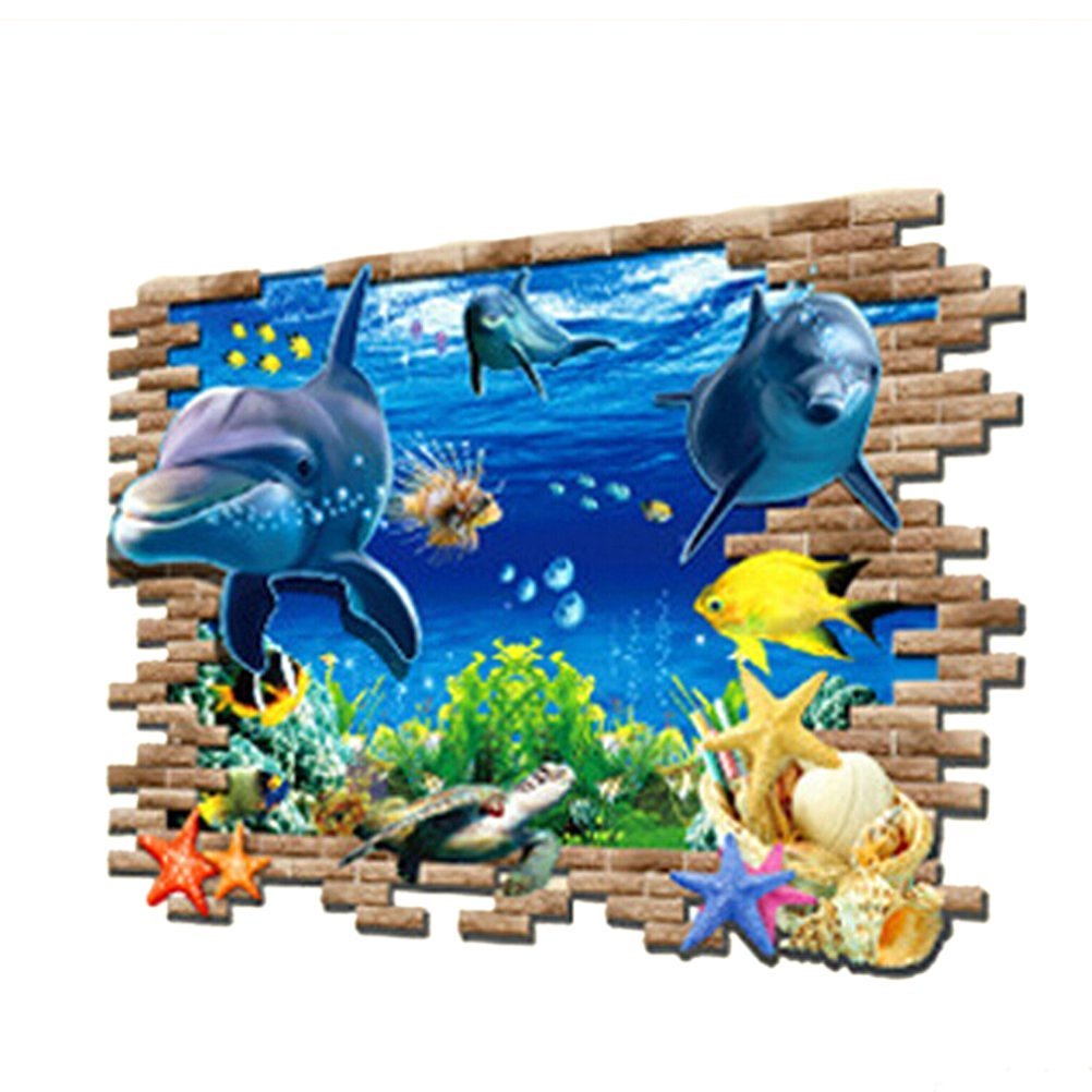 Hai Meer Hai Fisch Wandtattoo Wall sticker Kinderzimmer Geschenk ...