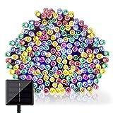 GDEALER LED Solar Lichterkette Weihnachten Decoration 22m 200 LED 2 Modes Wasserdict für Outdoor Party, Haus Dekoration, Hochzeit, Weihnachten, Feier Festakt (RGB)