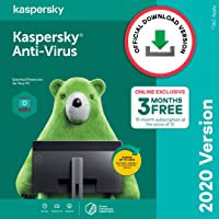 Kaspersky Anti-Virus Security 2020 Latest Version - 1 PC, 1 Year + 3 Months Free (Total 15 Months) (Single Key)(Email Delivery in 2 Hours - No CD)