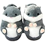 Joli Hamster de Coton Pantoufles, l'hiver Chaud antidérapant de la Maison de Coton Pantoufles