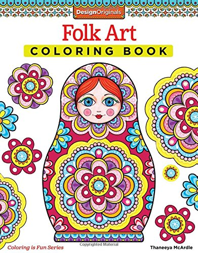 Folk Art Coloring Book Design Originals Coloring Is Fun